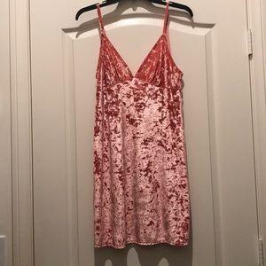 Pink low scoop dress